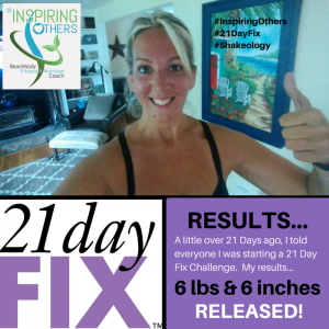 21 Day Fix RESULTS June Challenge 2015