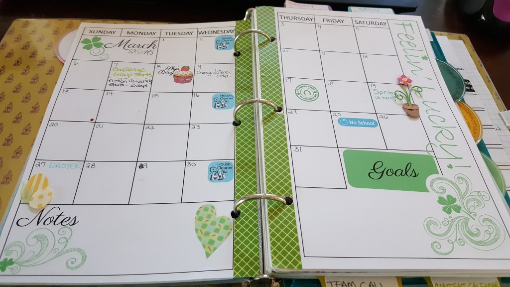 planner journal march monthly spread